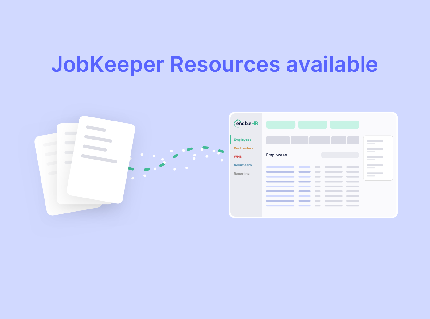 New JobKeeper resources NOW AVAILABLE in enableHR